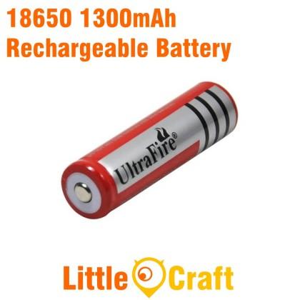 18650 3.7V 1300mAh Li-Ion Rechargeable Battery