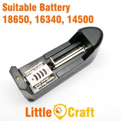 18650 Single Slot Li-ION Battery Charger Input AC 240V