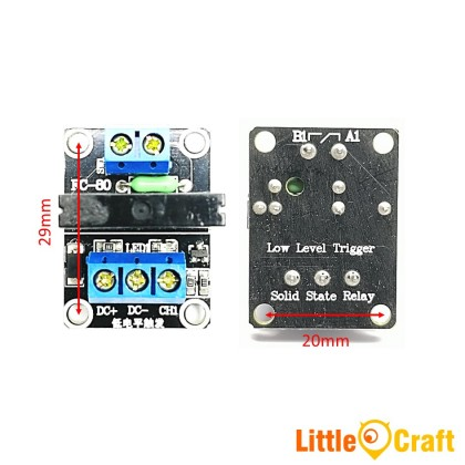 1 Channel 5V SSR Solid State Relay - Low Level Trigger