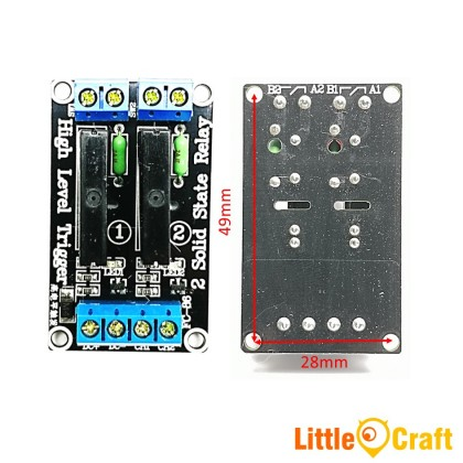 2 Channel 5V SSR Solid State Relay - High Level Trigger