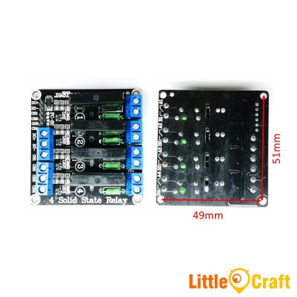 4 Channel 5V SSR Solid State Relay - Low Level Trigger