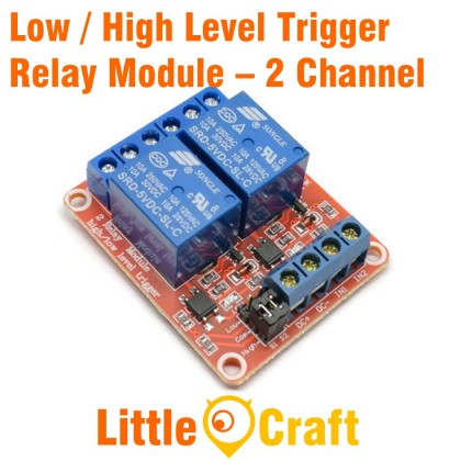 2 Channel Isolated 5V Relay Module With Low / High Level Trigger Option
