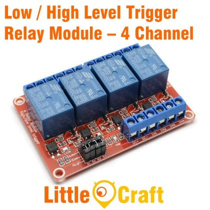 4 Channel Isolated 5V Relay Module With Low / High Level Trigger Option