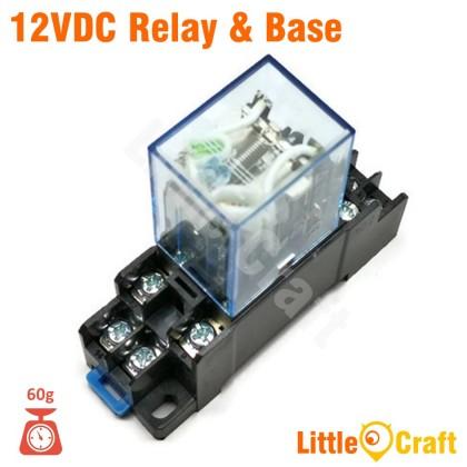 MY2N 12VDC 24VDC 240VAC Compatible Relay & Base
