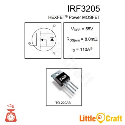 IRF3205PBF 55V 110A Power MOSFET   [TO-220]