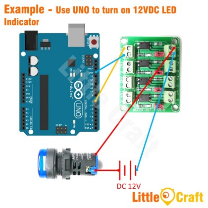 4 Channel Optocoupler Isolated Protection Module
