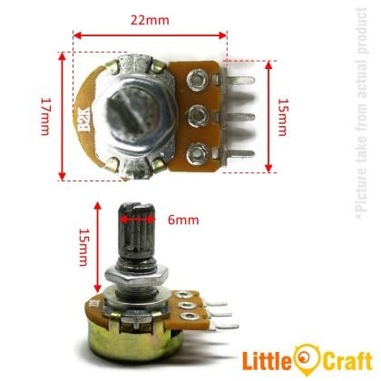 Single Turn Potentiometer / Variable Resistor 20% 1k-500k
