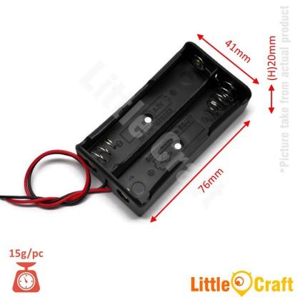 18650 Double Cell Two Slot 3.7V Battery Holder - 5pcs Pack