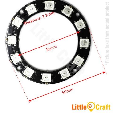RGB LED Ring 12x WS2812 5050 NeoPixel Module