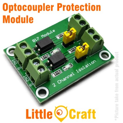 2 Channel Optocoupler Isolated Protection Module