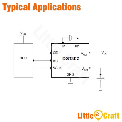 DS1302 RTC Real Time Clock IC [DIP8]