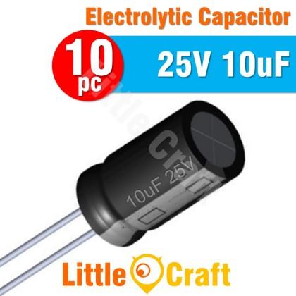 10pcs  Electrolytic Capacitor 25V 10uF
