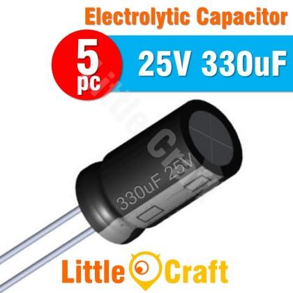 5pcs  Electrolytic Capacitor 25V 330uF