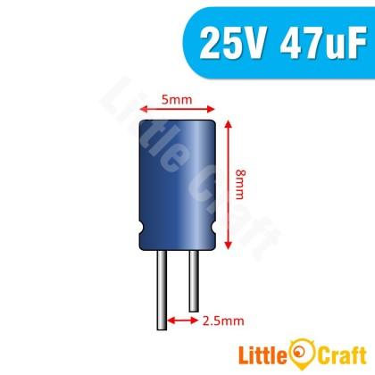 10pcs  Electrolytic Capacitor 25V 47uF