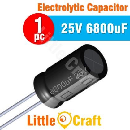 1pcs  Electrolytic Capacitor 25V 6800uF