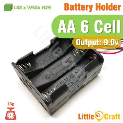 AA Battery Holder With Cable 2 Cell 3 Cell 4 Cell 6 Cell 8 Cell