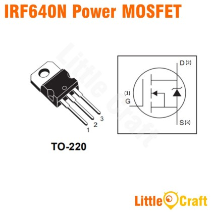 IRF640N 200V 18A Power MOSFET [TO-220]