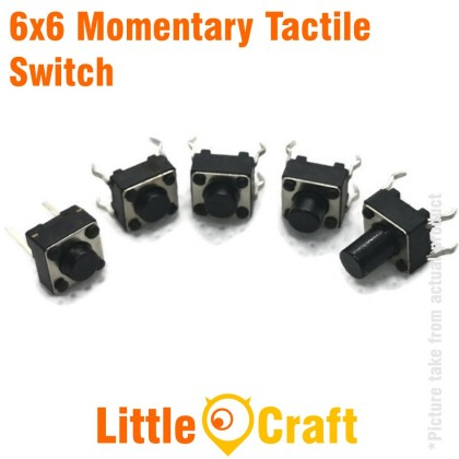 Momentary Tactile Switch Reset Button Tact Switch 6x6