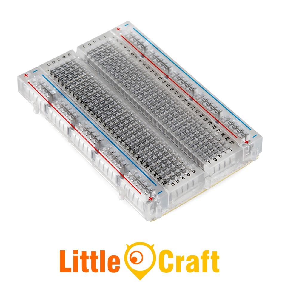 Transparent 400 Tie-Point Breadboard