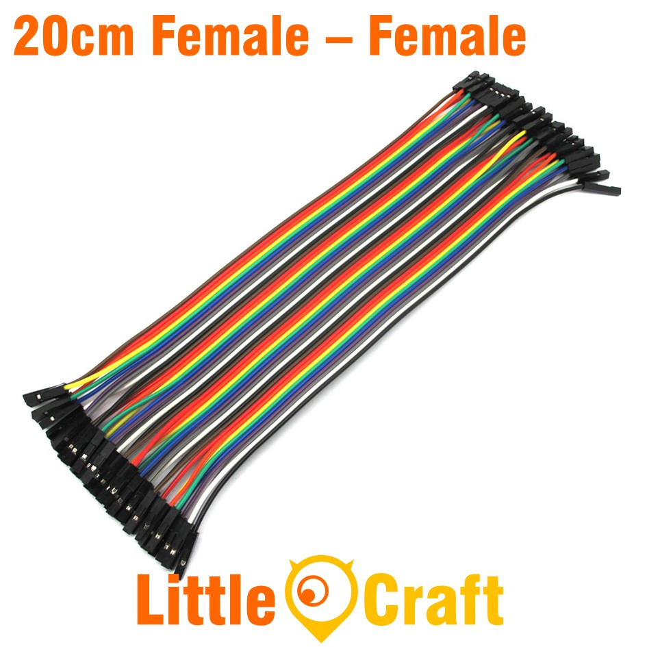 Dupont Jumper Wire 40p 2.54mm Female to Female 20cm