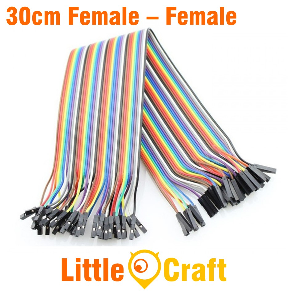 Dupont Jumper Wire 40p 2.54mm Female to Female 30cm