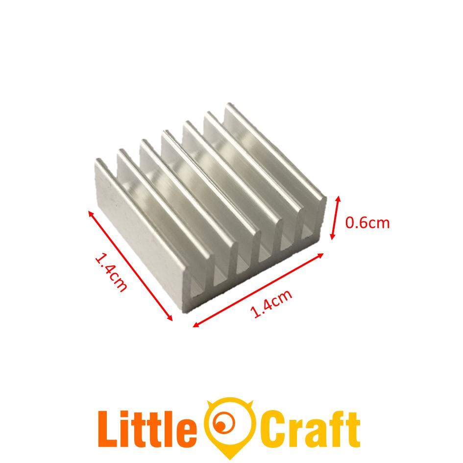 Heatsink 14x14x6 mm Aluminium Clear Anodized
