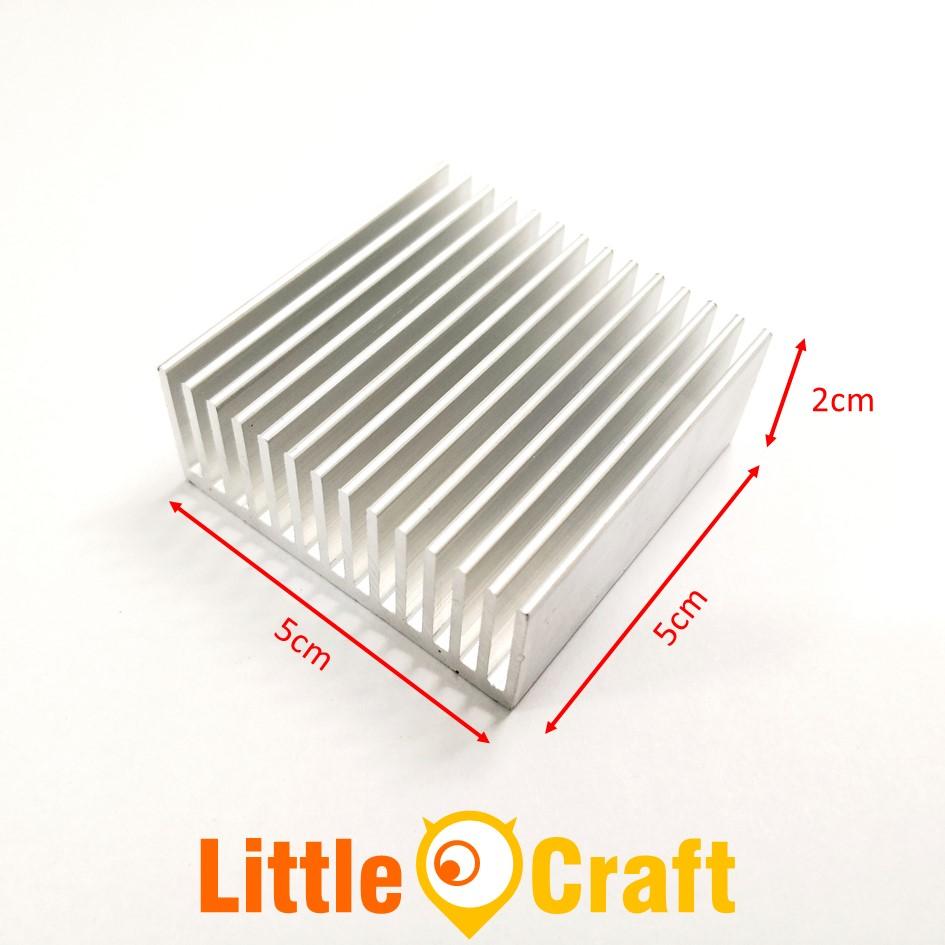 Heatsink 50x50x20 mm Aluminium Clear Anodized