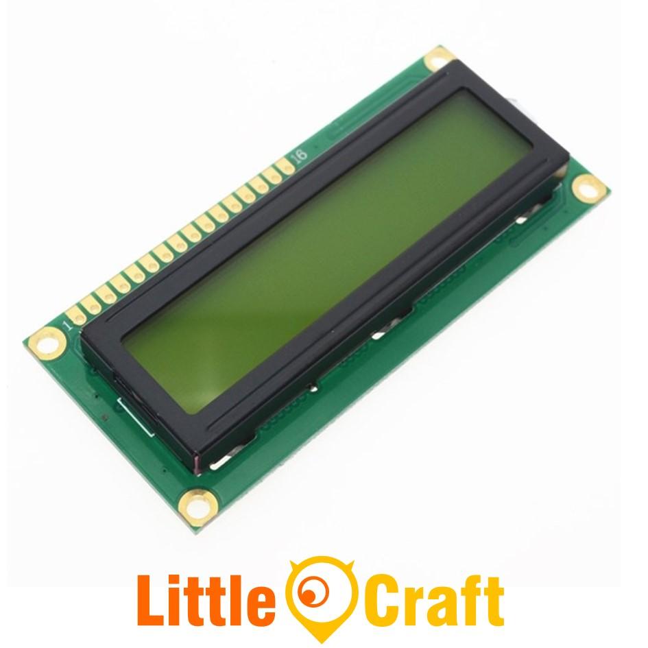Character LCD Display 1602 Yellow Blacklight