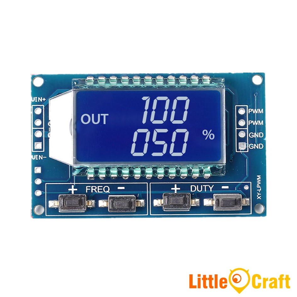 Adjustable PWM Signal Generator With LCD DIsplay TTL Serial Interface