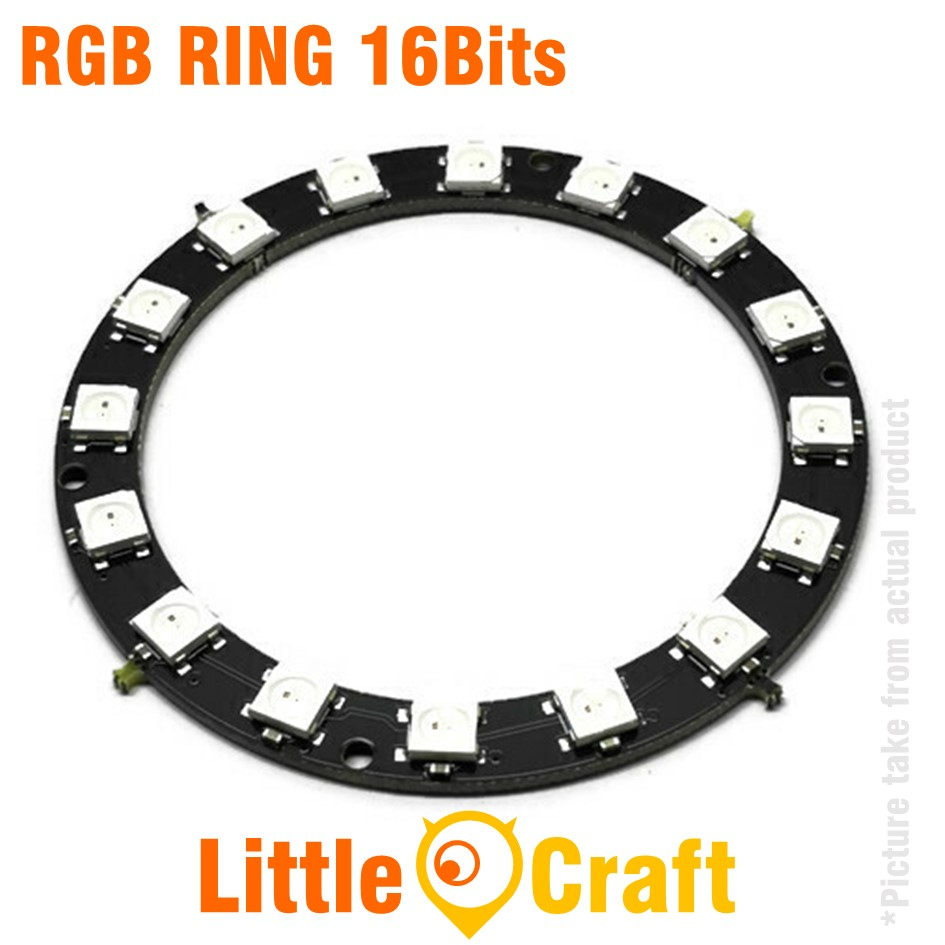 RGB LED Ring 16x WS2812 5050 NeoPixel Module