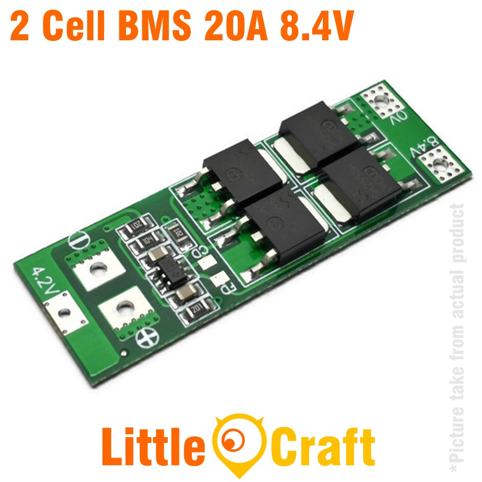 HX-2S BMS 2 Cell 8.4V 20A Li-ION Battery Charge/ Discharge Protection Module