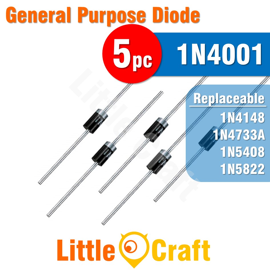 5pcs 1N4001 Diode General Purpose