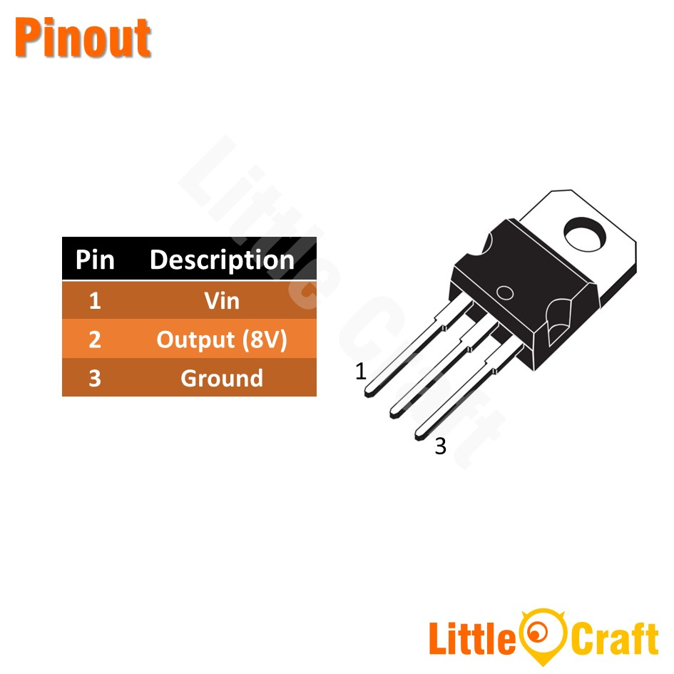 L7808CV 8V Voltage Regulator [TO-220]