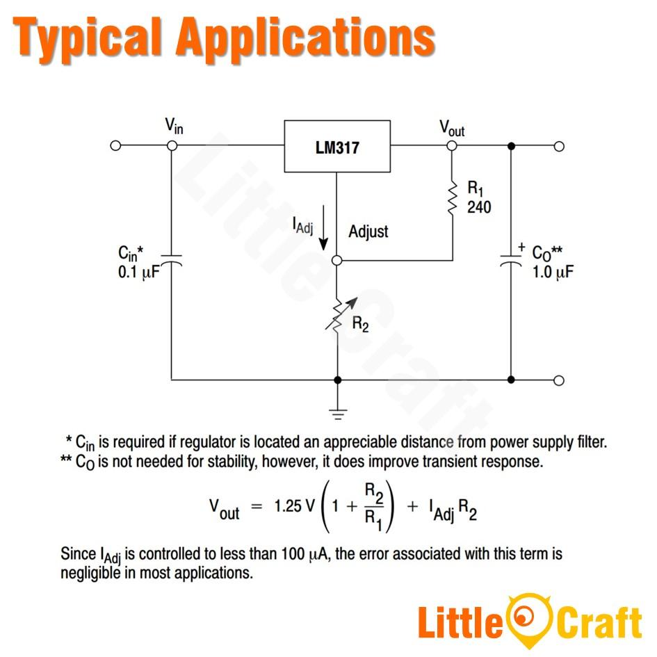 LM317T Variable Voltage Regulator [TO-220]