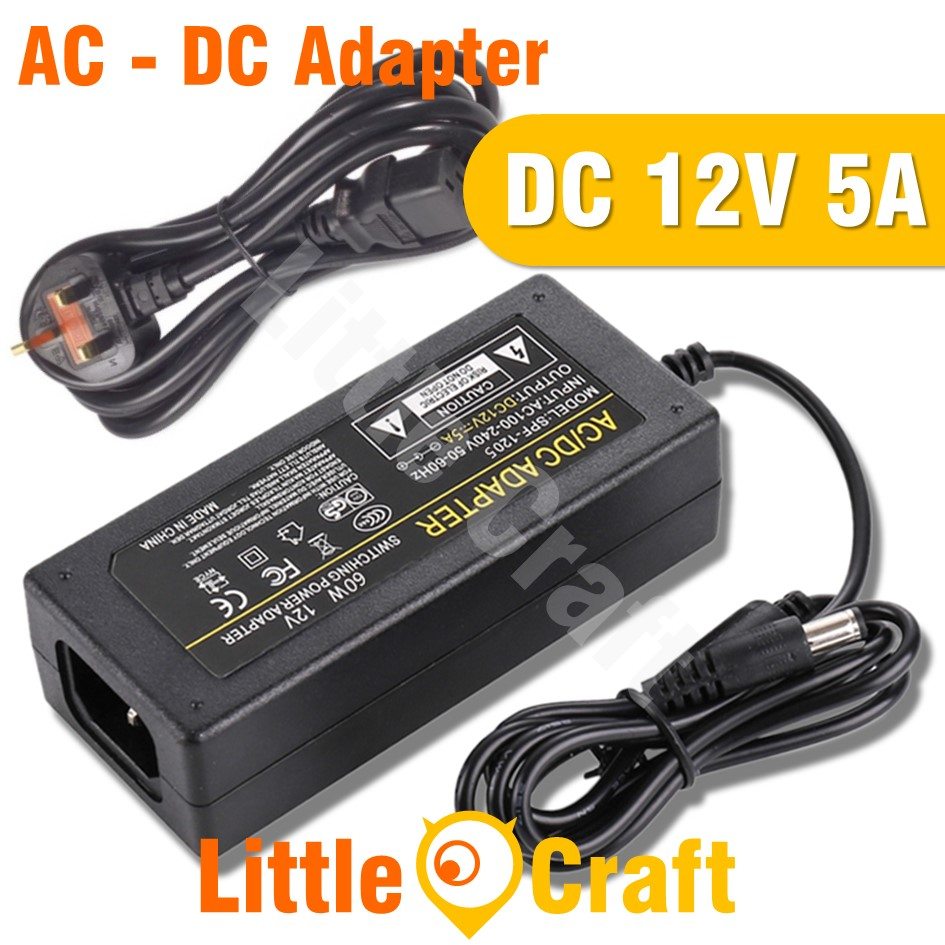 12V DC 5A 60W Power Supply Adapter