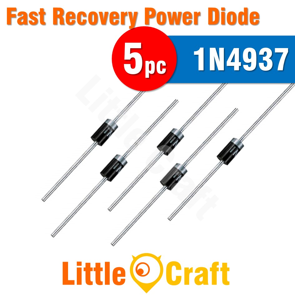 5pcs 1N4937 Diode Fast Recovery Power Diode