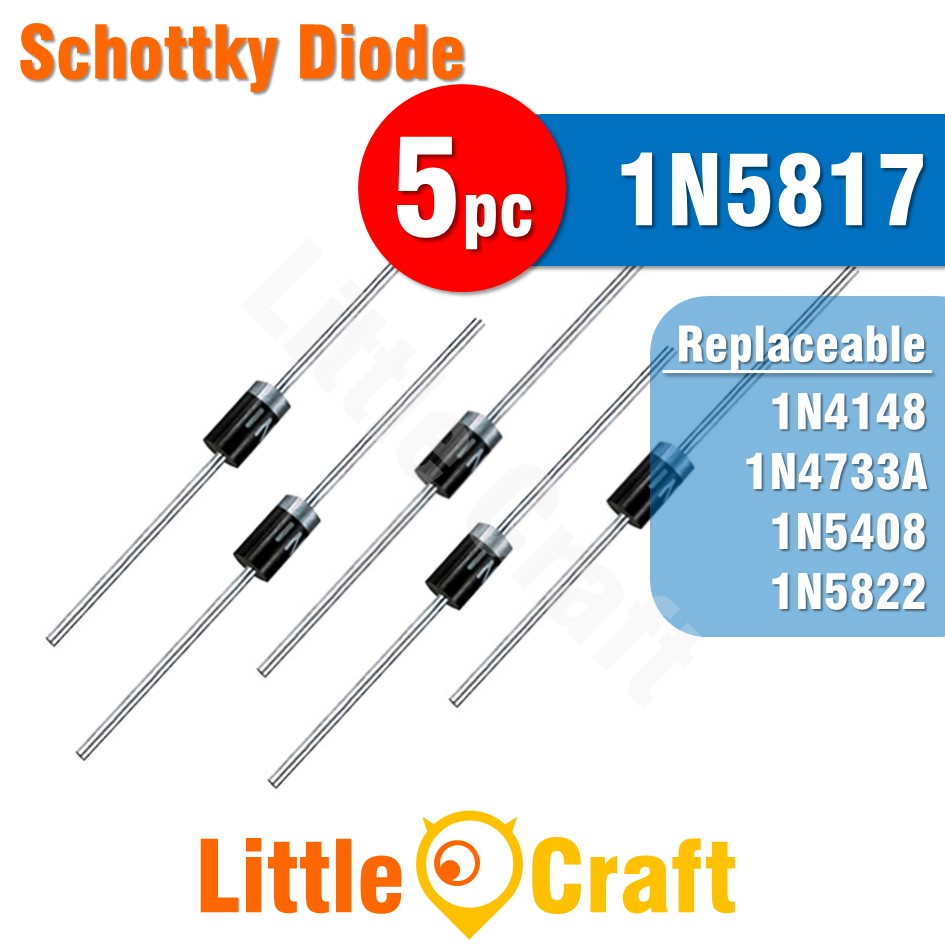 5pcs 1N5817 Diode Schottky Diode