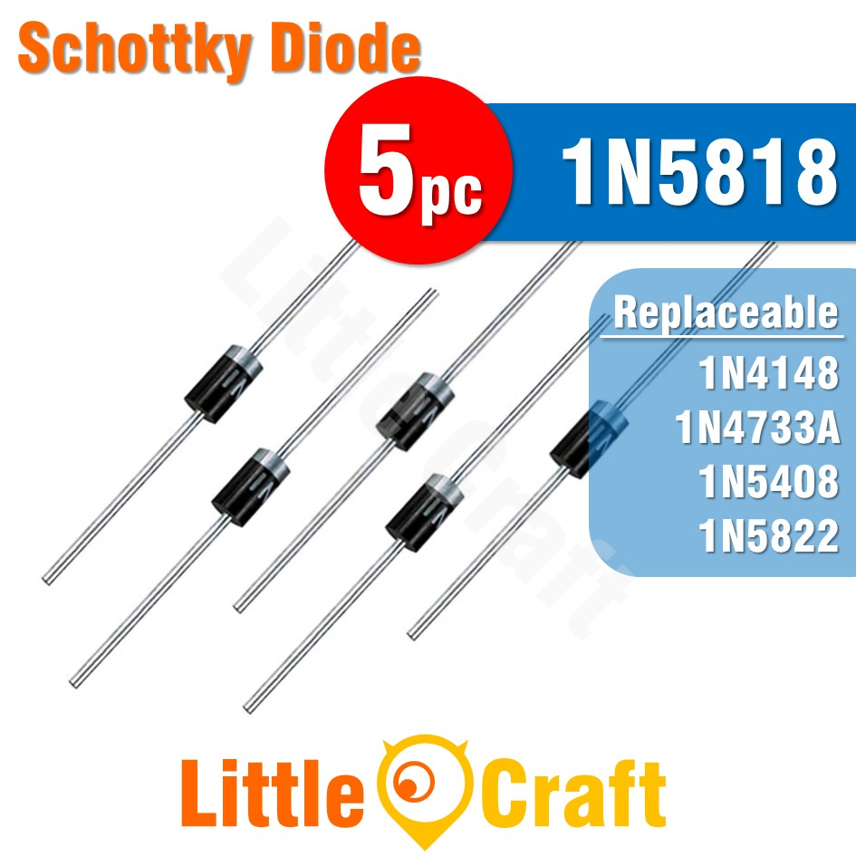 5pcs 1N5818 Diode Schottky Diode
