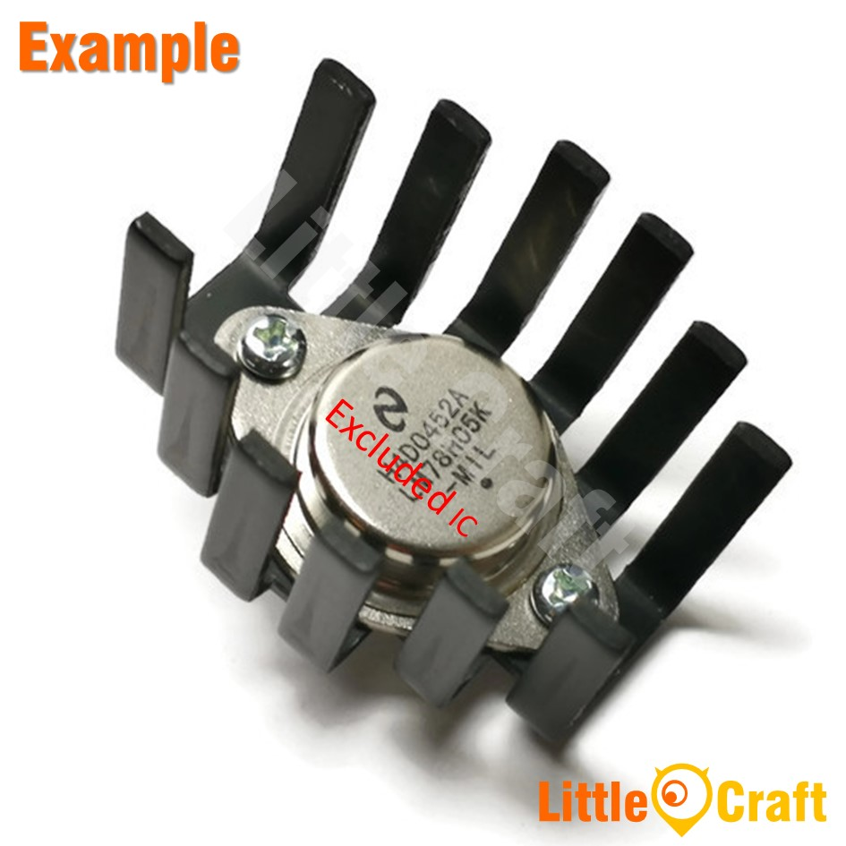 Heatsink 45x36x25mm TO-3 Regulator MOSFET Transistor