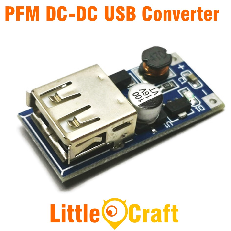 PFM DC-DC 0.9V-5V To USB 5V 600mA Step Up Converter