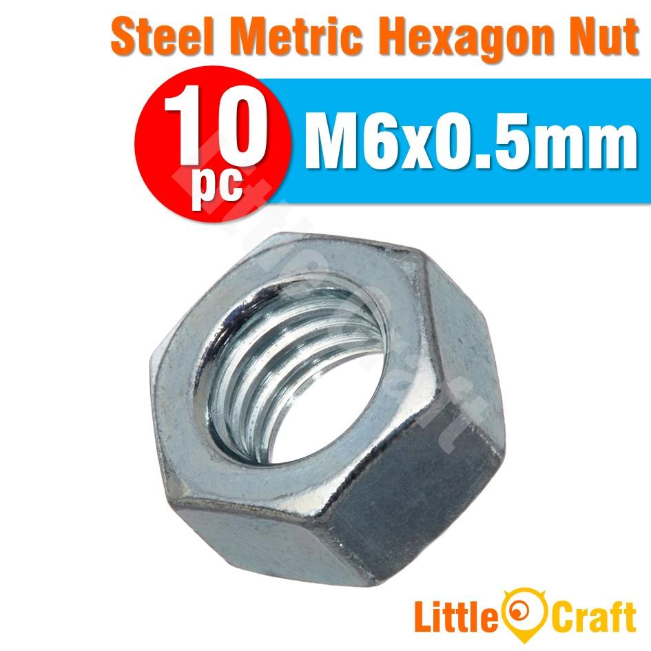 10pcs Hexagon Nut M3 M4 M5 M6 Metric Size